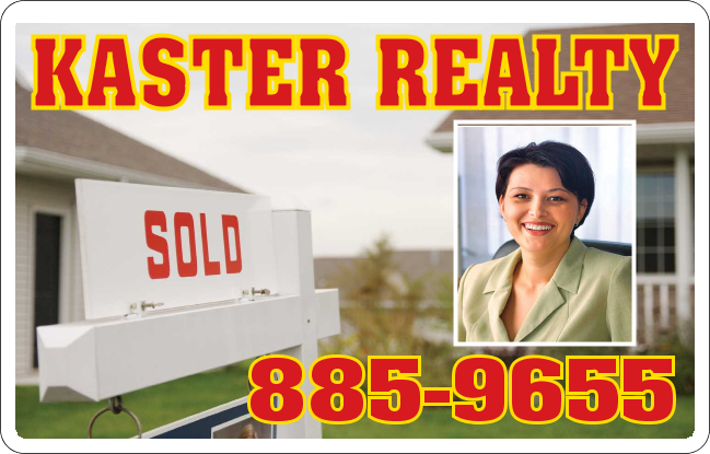 Realtor magnetic car sign