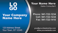 Blue Black business card template