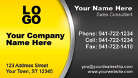 Yellow Black business card template
