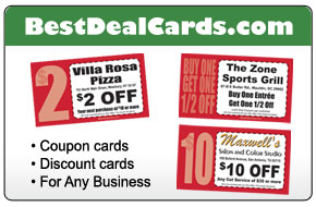 Coupon business cards