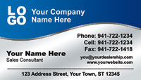 Blue and Silver business card template