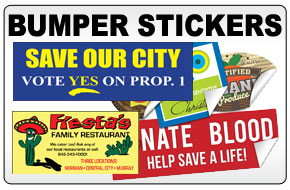 Custom printed bumper stickers