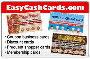 Customer loyalty frequent customer cards