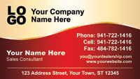 Dard red and gold business card template