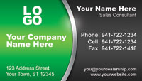 Green Black business card template