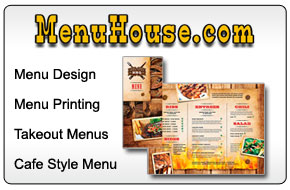 Menu design and printing