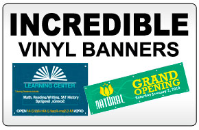 Indoor and Outdoor Vinyl Banners