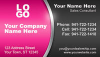 Pink Black business card template