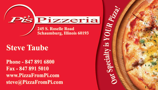 Pizza Business Card Sample