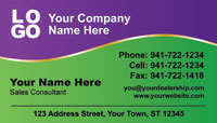 Purple Green business card template