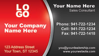Red Black business card template