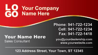 Red Gray Gold business card template