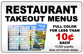 Full color takeout menus
