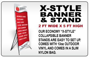 X Style Banner and Stand