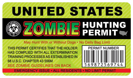 Business cards sample designs page 6 apple house press zombie hunting permit business card colourmoves
