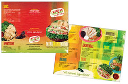 Mexican restaurant takeout brochure