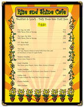 Menu design sample 1