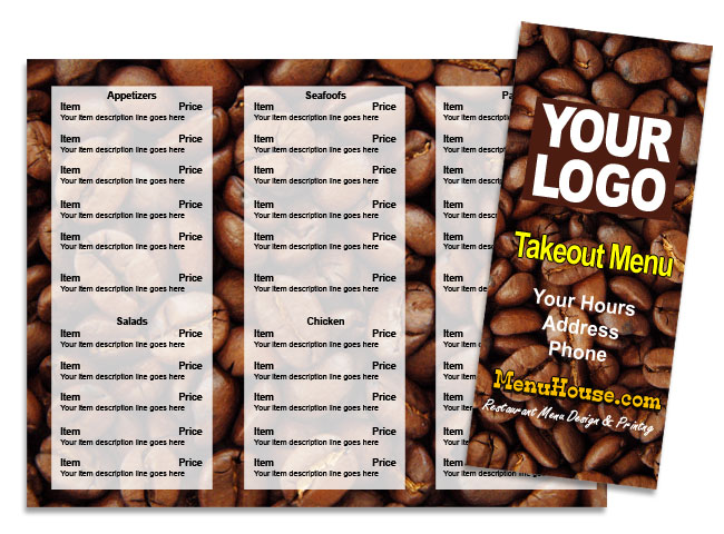 Coffee Shop Restaurant menu template