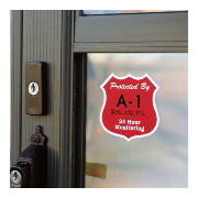 Security window decal