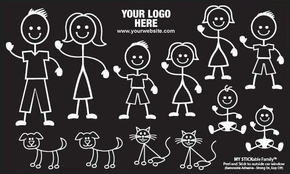 Stick Family Stickers