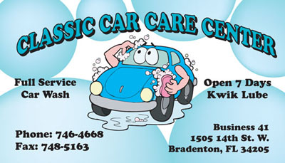 car wash business card sample - Car Wash Business Cards